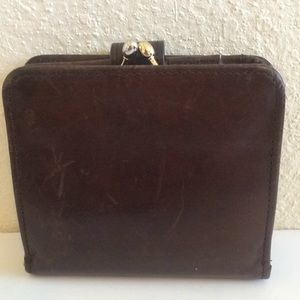 vintage coach wallet british tas leather kisslock